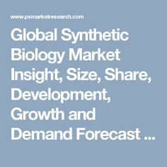 Global Synthetic Biology Market Insight, Size, Share, Development, Growth and Demand Forecast to 2020