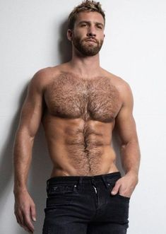 Hairy Hunks, Hot Hunks, Hairy Men, Bearded Men, Moustaches, Shirtless Men, Man Photography, Sexy Jeans, Jeans Pants