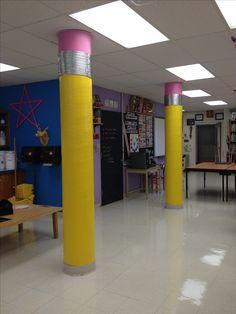 Sandburg Middle School art room. Elmhurst, IL. Mrs. Leban's room 2013-14.