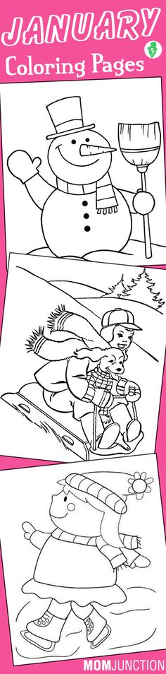 top 10 free printable january coloring pages online - Free Printable Snowman Coloring Pages