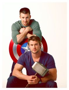Chris Evans (Captain America) and Chris Hemsworth (Thor) my two favorite marvel characters!