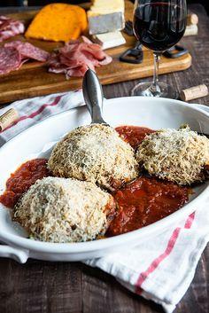 Portobello Stuffed Mushroom Recipe with Caramelized Onions from dineanddish.net