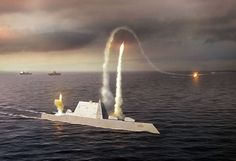 The USS Zumwalt is the first of a new class of United States guided missile destroyers. It is designed to operate in both the open ocean and in shallow, coastal waters, makes 30+ knots, and incorporates stealth features such as a wave-piercing hull that leaves almost no wake, exhaust suppression to reduce its infrared signature; and an steeply sloping exterior, creating a radar signature said to be equal to a small fishing boat. The planned service date is 2015.