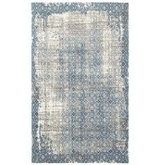 Adana White/Blue 1 ft. 10 in. x 3 ft. 1 in. Vibrant Indoor Area Rug