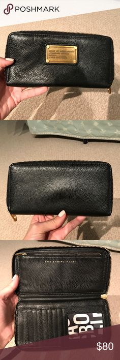 Marc Jacobs Wallet Gently used.  Super cute wallet with great compartments.   Dimensions: 8 inches long, 4 inches tall Marc By Marc Jacobs Bags Wallets