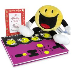 Surprise Gift Hamper On Birthday Give your dear one a fun surprise on her or his birthday with this hamper which contains a notebook with 386 pages, a birthday desk quotation and a hanging smiley soft toy. Rs. 739 : Shop Now : https://hallmarkcards.co.in/collections/shop-all/products/surprise-gift-hamper-on-birthday