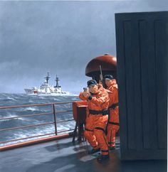 Cold Weather Coast Guard, by Larry Selman