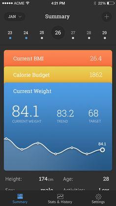 体重跟踪暗