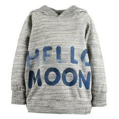 Siggi Hoodie Hello Moon Grey #LoveThis #softgallery