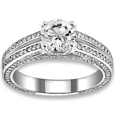 0.96 ctw 14k WG Natural H-I Color, SI Clarity, Accent Diamonds Engagement Ring…..25% Off With Coupon Code(8515667456) + Upto 65% Off + Free Shipping In USA,Last Date : 15 FEB 2014