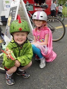 Dinosaur kids bike helmet