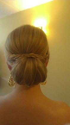 Sleek but with a braid for Bridesmaids wanting hair up
