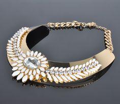 Newest Design Of Chunky Choke Shourouk Necklace 18k Italian Gold Jewelry