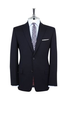 Parliament Navy Regular Fit Infinity Suit,
