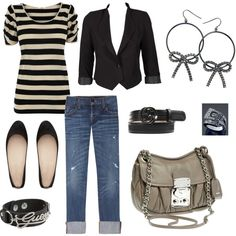my very first polyvore set! Created by yours truly! This is me to a T!