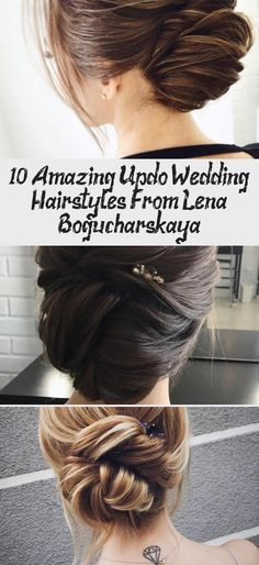 10 Amazing Updo Wedding Hairstyles From Lena Bogucharskaya Messy Wedding Hair, Wedding Updo, Great Hairstyles, Wedding Hairstyles, Updos, Dreadlocks, Bride, Hair Styles, Amazing