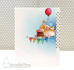 Sam's Scrap Candy: Cupcake Inspirations Challenge #396 - Cats!  | Newton Loves Cake stamp set by Newton's Nook Designs #newtonsnook