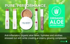 Anti-inflammatory organic aloe heals, hydrates and soothes stressed out skin while creating a creamy glowing complexion.
