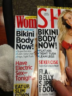"""Idential Magazine Covers, from 2 years apart? Yep.  What's most offensive about this snafu, however, is not the failure of these publications to produce new content or the evident implications of plagiarism, embarrassing and concerning as those things are. This generic """"Get Thin Now!"""" """"Have Sexy Sex!"""" advice -- which we see over and over again in women's magazines -- encourages us to believe that our bodies and our sex lives are never good enough."""