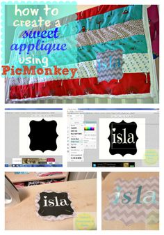 How To Create A Sweet Applique Using Picmonkey