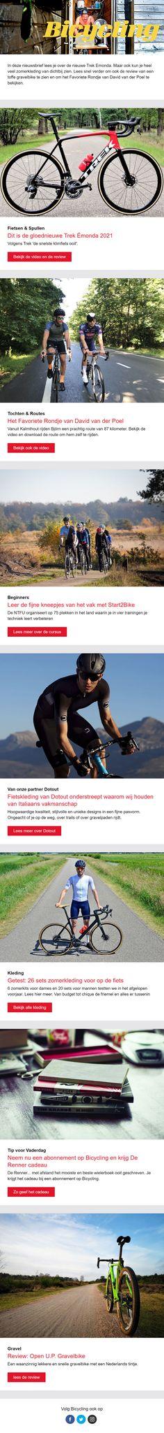 De nieuwsbrief van Bicycle omvat veel verschillende onderwerpen en blijft interessant door de korte, pakkende teksten. Software, Marketing
