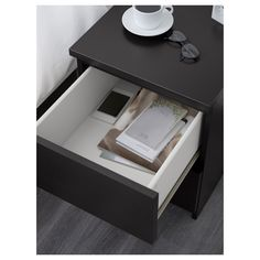 IKEA - MALM, chest, black-brown, 15 & , Can also be used as a nightstand.Real wood veneer will make this chest of drawers age gracefully.Smooth running drawers with pull-out stop. Brown Art, Black And Brown, Fine Furniture, Furniture Making, Bedroom Furniture, Ikea Shopping, Small Apartment Design, Best Ikea, Wood Veneer