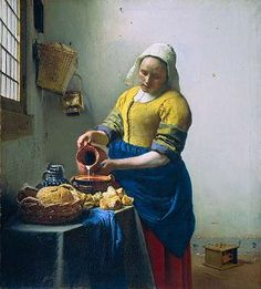 Vermeer - i saw this painting - so living - the milk seems to flow out of the jug...