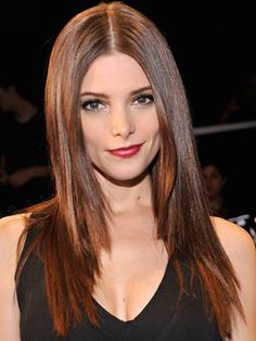 Ashley Greene looks sophisticated with super-straight hair