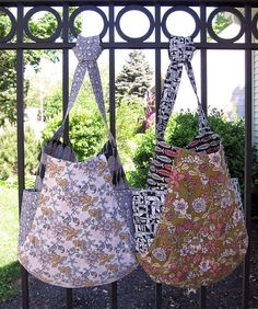 Gorgeous floral print tote bags!