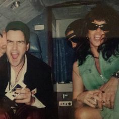 Slash with Perla and Charlie Sheen