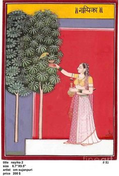 Nayika Painting by Om Sujanpuri