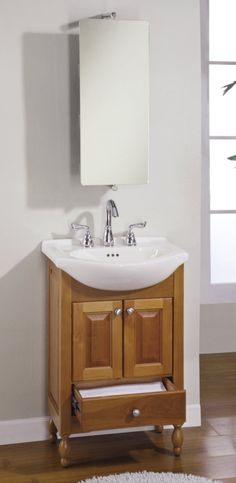 Great 22 Inch Single Sink Narrow Depth Furniture Bathroom Vanity With Choice Of  Finish And Sink UVEIW22