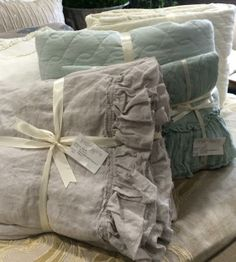 Make your bed comfy, cozy, and beautiful with linens like these from Sophia Home in Roslyn, NY or online at sophiakhome.com