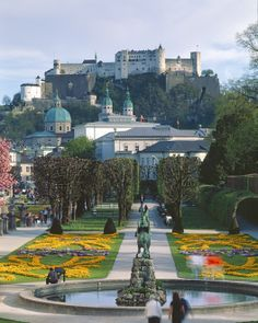 """Salzburg, Austria-This is one of the places Maria and the von Trapp kids danced in the """"Do Re Mi"""" sequence Innsbruck, Dream Vacations, Vacation Spots, Places To Travel, Places To See, Places Around The World, Around The Worlds, Wonderful Places, Beautiful Places"""