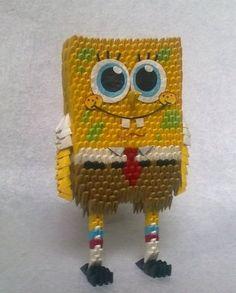 3D Origami - Spongebob