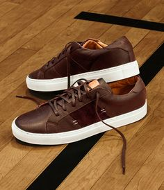 The Royale Sneakers - Chocolate x White