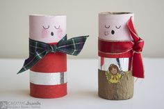"""Pen holder made from REUSED materials - cardboard tube, ribbon, paper, stickers. <a href=""""https://www.facebook.com/creativejunkchch/"""">Creative Junk facebook</a>   #recyclereuserethink #recycle #reuse #rethink #cardboard_tube #ribbon #paper #paint #sticker"""
