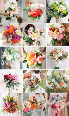 15 Fresh Florals for Modern Summer Weddings via Brit + Co. // bouquets for the house