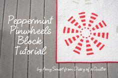Diary of a Quilter - a quilt blog: 'Peppermint Pinwheel' Dresden block tutorial