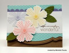 I have this Stampin' Up! Edgelit die and embossing folder. The folder leaves a ridge across the card; overlaying with another patterned paper is pure genius, as it covers the folder mark and looks fantastic!