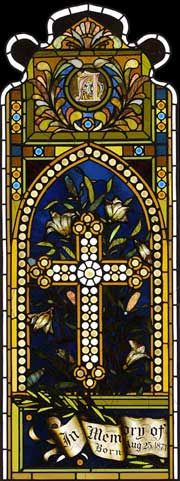 "Client: Emmanuel Episcopal Church Location: Newport, Rhode Island Restoration Date: 2004 Scope of Project: Historic restoration of a two-lancet window 25"" x 65 ¼"""