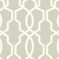Hourglass Trellis Wallpaper in Gold and Ivory design by York Wallcoverings
