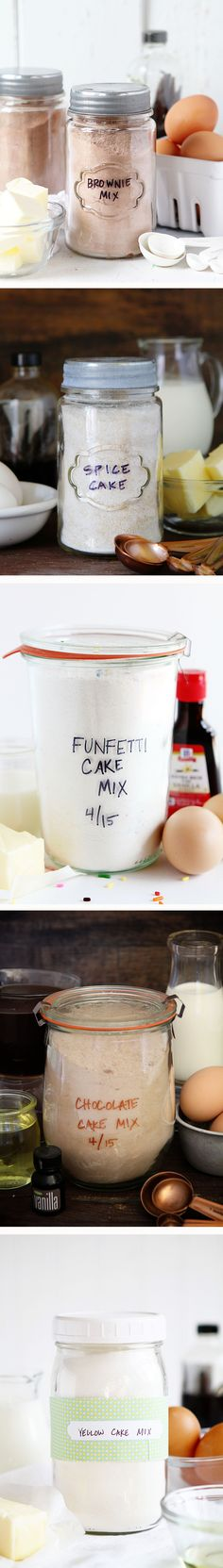 Every Homemade Cake Mix you could ever want! DITCH THE BOX!