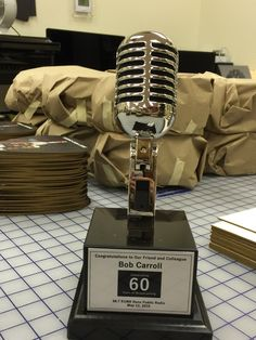 Custom Vintage Microphone Award exclusively available by Brand O' Guitar Company