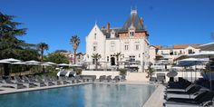 Chateau St Pierre de Serjac near the French town of Beziers has a vineyard, hotel, restaurant and spa. Chateau Saint Pierre, St Pierre, Luxury Spa, Luxury Villa, Soho, Hotels In France, Beautiful Hotels, Amazing Hotels, French Chateau