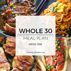 Whole 30 meal plan complete with every breakfast, lunch, and dinner. All the quick and easy Whole 30 recipes you could ever need! Get happy and healthy!