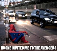 Funny. The Avengers. Spiderman.