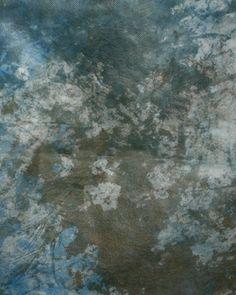 Bathroom color scheme... Gray, blue, brown using a paint wash. Pretty!