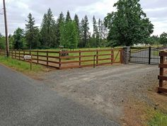Gate Ideas Driveway Fence Wooden Gates Fence Entrance Lakeside with sizing 1899 X 1435 Farm Fence Gate Ideas - A simple staircase made by an experienced Driveway Entrance Landscaping, Driveway Fence, Driveway Design, Front Yard Fence, Home Landscaping, Fence Design, Farm Entrance, Entrance Gates, Farm Gate