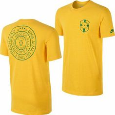 eb4bac0496 Nike FIFA Brazil Covert Back Logo T-Shirt (Yellow) Team Apparel